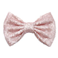 "Blush Matte - 5"" XL Sequin Bow"