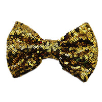 "Gold on Black - 5"" XL Sequin Bow"