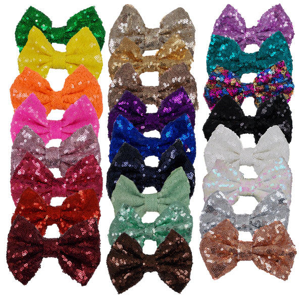 "Gold - 5"" XL Sequin Bow"