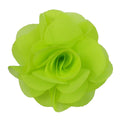 "Chartreuse - 2.5"" Small Chiffon Rose"
