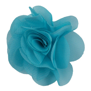"Blue - 2.5"" Small Chiffon Rose"