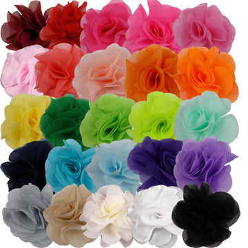 "Grab Bag - 2.5"" Small Chiffon Rose - 10 Flowers"