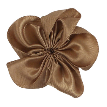 "Beige - 2"" Satin Ribbon Flower"