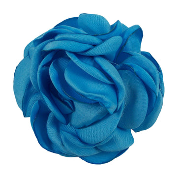 "Blue - 2"" Singed Satin Rose"