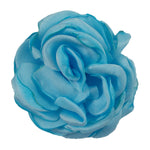 "Light Blue - 2"" Singed Satin Rose"
