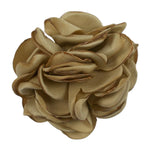 "Tan - 2"" Singed Satin Rose"