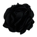 "Black - 2"" Singed Satin Rose"