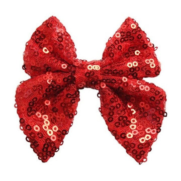 "Red - 3"" Sequins Sailor Bow"