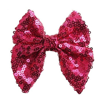 "Hot Pink - 3"" Sequins Sailor Bow"