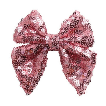 "Pink - 3"" Sequins Sailor Bow"