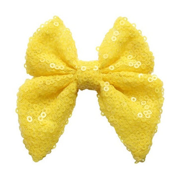 "Yellow - 3"" Sequins Sailor Bow"
