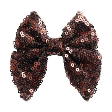 "Brown - 3"" Sequins Sailor Bow"