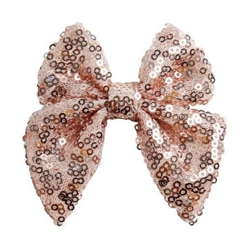 "Rose Gold - 3"" Sequins Sailor Bow"
