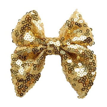 "Gold - 3"" Sequins Sailor Bow"