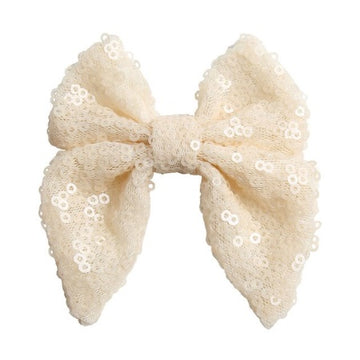 "Ivory - 3"" Sequins Sailor Bow"