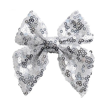 "Silver - 3"" Sequins Sailor Bow"