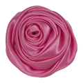 "Pink - 1.5"" Satin Twisted Rose"
