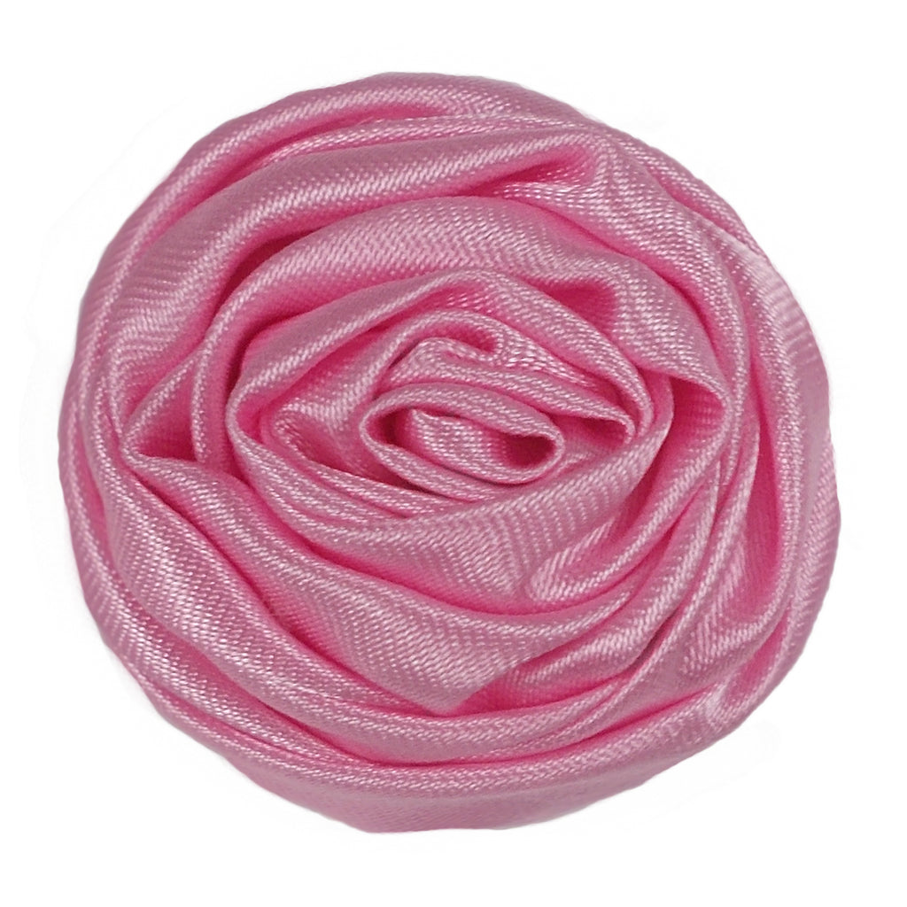 "Light Pink - 1.5"" Satin Twisted Rose"