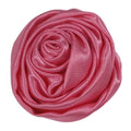 "Coral Pink - 1.5"" Satin Twisted Rose"