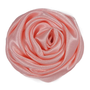 "Peachy Pink - 1.5"" Satin Twisted Rose"