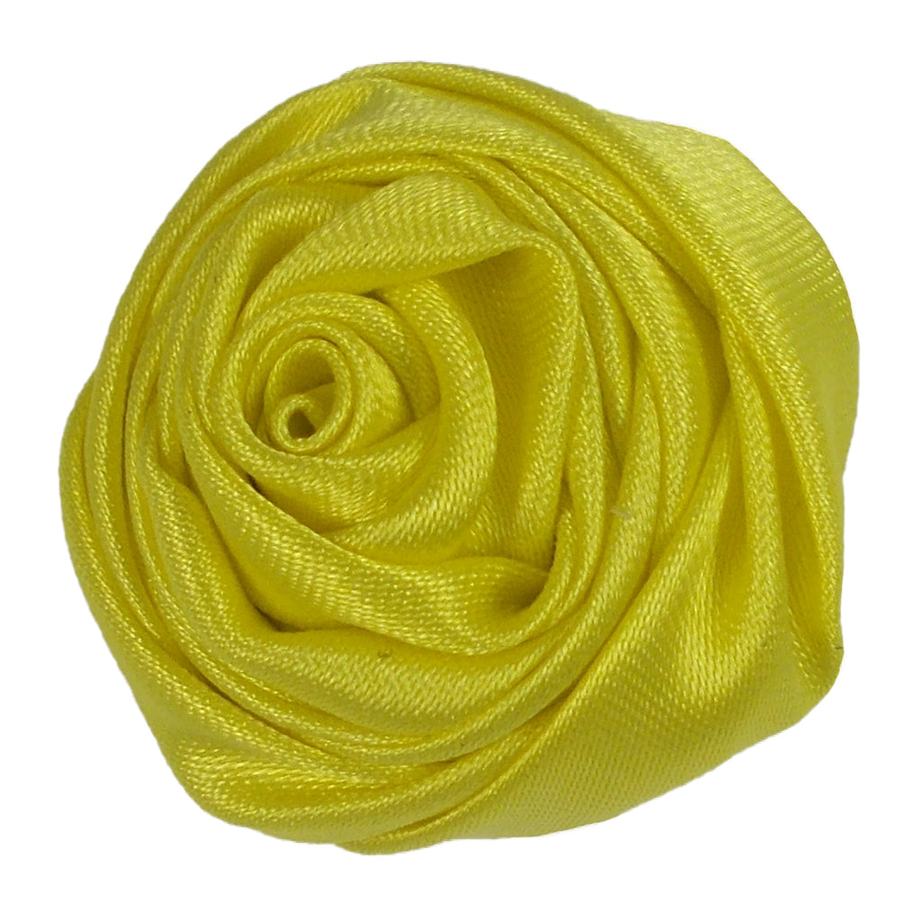 "Candy Yellow - 1.5"" Satin Twisted Rose"