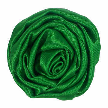 "Green - 1.5"" Satin Twisted Rose"