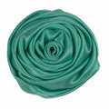 "Aquamarine - 1.5"" Satin Twisted Rose"