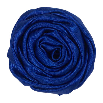 "Royal Blue - 1.5"" Satin Twisted Rose"