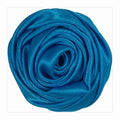 "Blue - 1.5"" Satin Twisted Rose"
