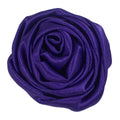 "Purple - 1.5"" Satin Twisted Rose"