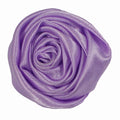 "Lavender - 1.5"" Satin Twisted Rose"