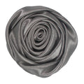 "Gray - 1.5"" Satin Twisted Rose"