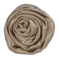 "Khaki - 1.5"" Satin Twisted Rose"