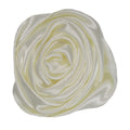 "Ivory - 1.5"" Satin Twisted Rose"