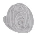 "White - 1.5"" Satin Twisted Rose"