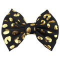 "Black + Gold Cheetah - 5"" Fabric Bow"