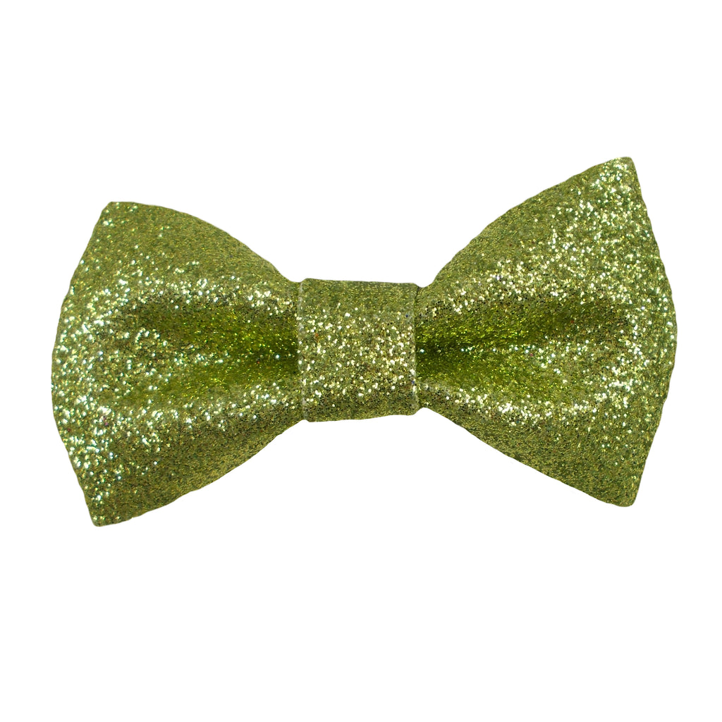 Lime Green - Regular Glitter Bow