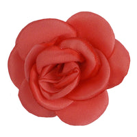 "Coral - 1.5"" Mini Satin Rose"