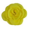 "Bright Yellow - 1.5"" Mini Satin Rose"