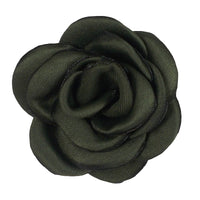 "Dark Sage - 1.5"" Mini Satin Rose"