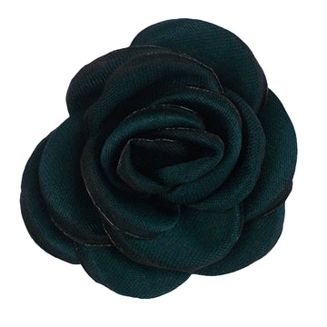 "Emerald - 1.5"" Mini Satin Rose"
