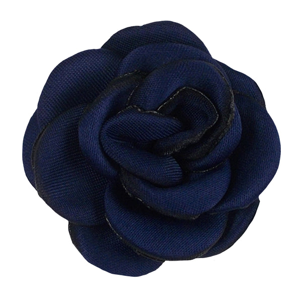 "Navy Blue - 1.5"" Mini Satin Rose"