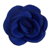 "Royal Blue - 1.5"" Mini Satin Rose"