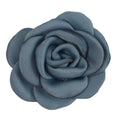 "Denim Blue - 1.5"" Mini Satin Rose"