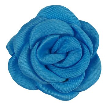 "Blue - 1.5"" Mini Satin Rose"