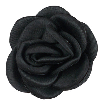 "Dark Gray - 1.5"" Mini Satin Rose"
