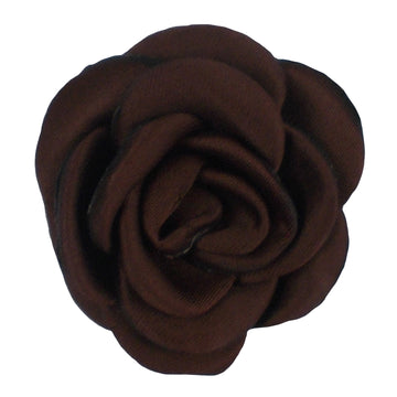 "Brown - 1.5"" Mini Satin Rose"