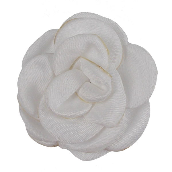 "White - 1.5"" Mini Satin Rose"