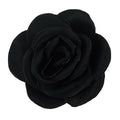 "Black - 1.5"" Mini Satin Rose"