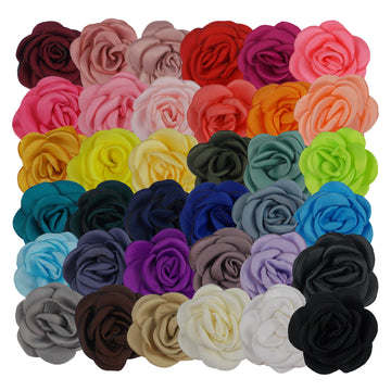 "Grab Bag - 1.5"" Mini Satin Rose - 10 Flowers"